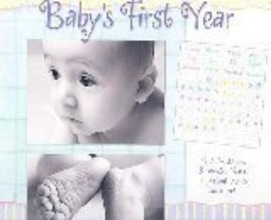 Baby's first year calendar & picture frame