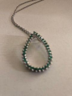 Designer emerald pendant