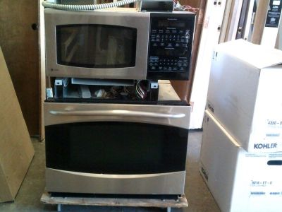 GE combo microwave and oven wall unit