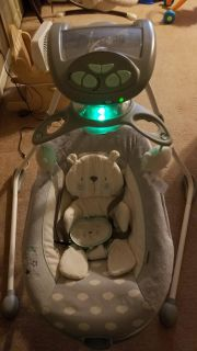 Baby swing with detachable seat h
