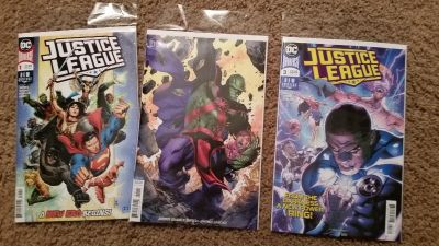 Justice League Comics #1, #2 and #3
