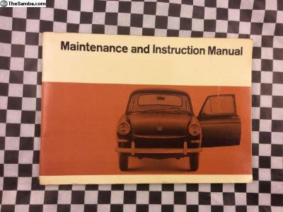 Type 3 1967 Fastback Owners Manual