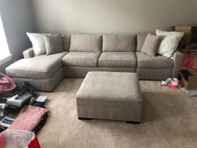 Mint Condition Radley Fabric Chaise Sectional Sofa
