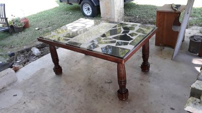 Beautiful Granite table... homemade