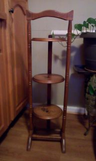 Antique Three Tier Collapsible Rack