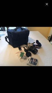 Cannon 35mm Rebel Camera with accessories