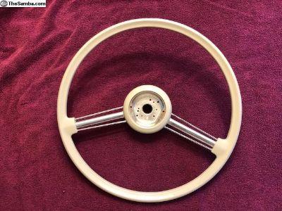 400 mm Beige Steering Wheel
