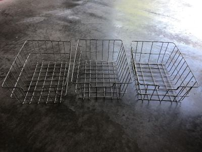 Antique Industrial style wire baskets - set of 3!