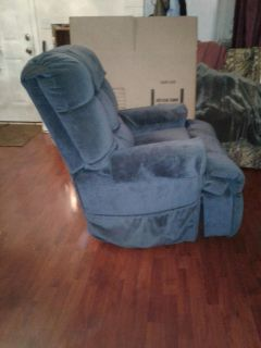 Blue recliner and lift chair