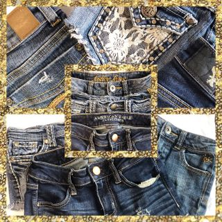 IN SP HILL Lot of 3 Pair Women s size 00 zero Brand Name Blue Jean Shorts (equal to sz 11-12 girls also)