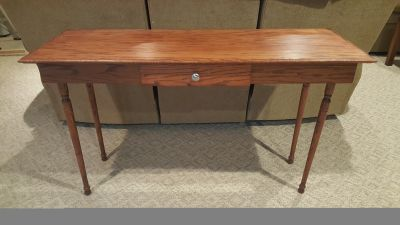 Sofa table with faux drawer