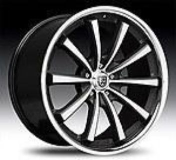 """Purchase 20"""" 22"""" Lexani CVX-55 Black Chrome Wheels Cadillac CTS DTS STS Deville motorcycle in Victorville, California, US, for US $1,389.99"""