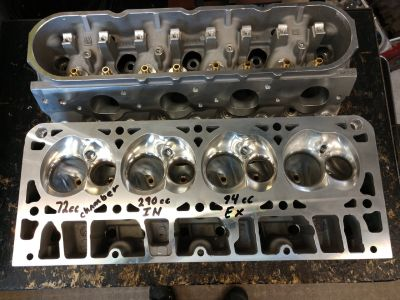 LS 7 Liter 427 CNC Heads Fresh 394 CFM GM