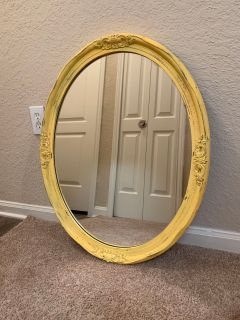 Sunny Farmhouse Yellow Mirror