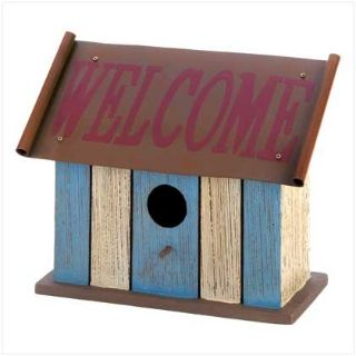 "Designer Birdhouse: ""Striped Welcome"" 12581 New"