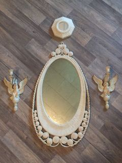 Vintage Syroco Mirror Set
