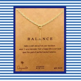 Balance Gold rod necklace on beautiful card stock, perfect gift! $3 each
