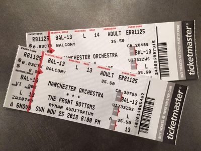 2 tickets for Manchester Orchestra at the Ryman!