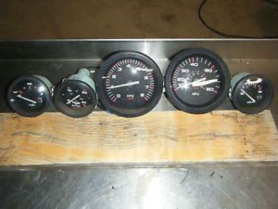 Sell Mercury outboard gauges nice complete set speed tach water temp fuel volt motorcycle in Newark, Delaware, United States, for US $125.00