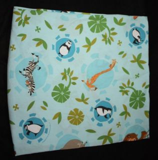 Madagascar 2005 Like New Twin Flat Bed Sheet / Fabric