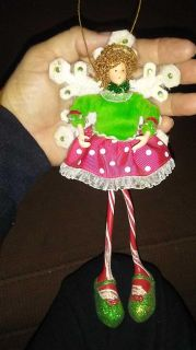 Angel/candy cane / snowflake ornament doll