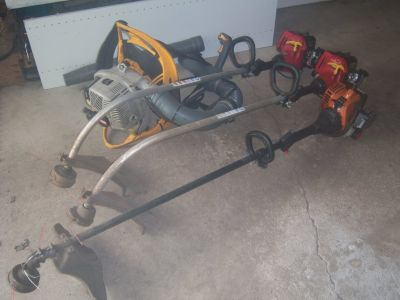 1-REMINGTON RM2560-2-HOMELITE WEED TRIMMERS-1 RYOBI BACKPACK BLOWER