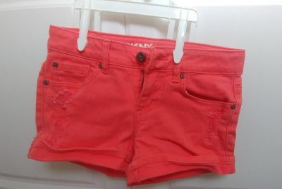 Girls Coral DKNY Hipster Shorts