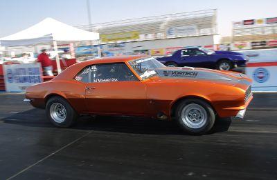 Low 4 Sec Stock Suspension 1968 Drag Radial Camaro