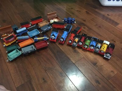 Huge box of Thomas trains and track