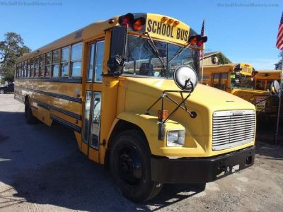 2002 Freightliner High Top School Bus + Curbside Storage