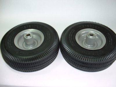 """NEW Marathon 2-Pack Utility Tires 4.10/3.50-4"""" Pneumatic (Air Filled)"""