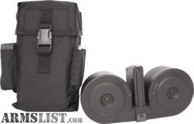 For Sale: M16 M4 AR15 100 round duel drum Mag