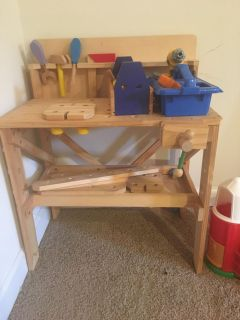 Took bench and extra tools and material