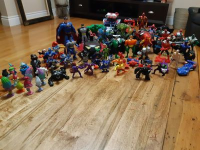 Big Lot of Action Figures, Marvel, Power Rangers,DC, and More