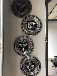 65 Plymouth Satellite hubcaps set (top one needs to be polished)