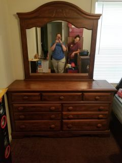 Real Wood Dresser/Mirror Combo