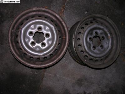 """5 lug 14"""" Thing or Bus wheels (2)"""