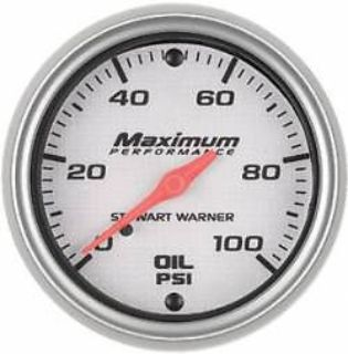 "Purchase Stewart Warner Gauges 114519 2-1/16"" Oil Pressure Silver motorcycle in Melbourne, Florida, United States, for US $49.99"