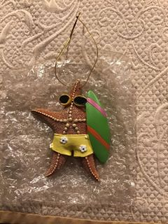 Brand new Star with sunglasses & surfboard super cute Ornament or decoration