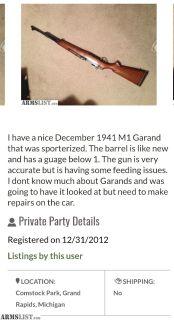 Want To Buy: M1 garand