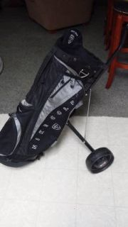 reduced Nike golf bag and pull cart