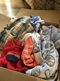 Random lot of nb and 3 mos boys winter clothes/shoes/socks