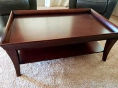 Wood coffee table w/ matching end tables