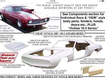1969 Camaro fiberglass body