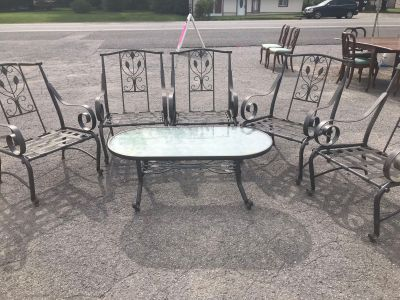 Patio chairs and coffee table