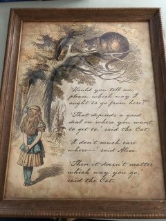Alice in Wonderland Framed Picture PPU COLUMBIA