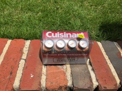 Outdoor steak thermometers