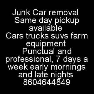 $1, Junk Car removal