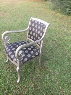 Stunning antique chair upholstery is excellent condition