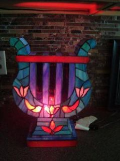$100 Stained Glass LYRE Lamp LQQK!! (American Fork)